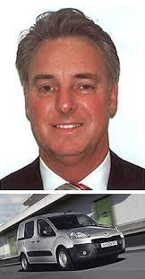 Left: Bill Gillespie and Peugeot Partner EV. - Peugeot_Bill_Gillespie