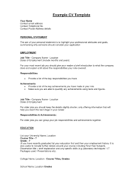 good cv statements cover letter resume examples good cv statements the art of writing a good cv jobs uk job search of good personal