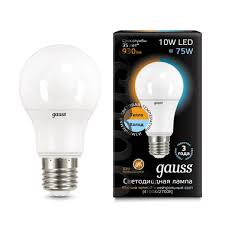 102502110-T <b>Лампа Gauss LED A60</b> 10W E27 3000-4100K CTC