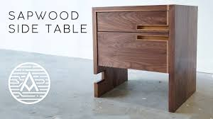 Walnut <b>Side Table with</b> Sapwood Inlay - YouTube