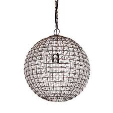 antique metal and crystal ball pendant lighting 9317 ball pendant lighting