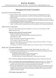 chronological resume example management coach consultant coaching resume sample