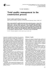 total quality management in the construction process pdf total quality management in the construction process pdf available