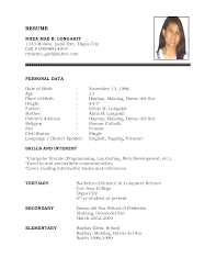 sample of a simple resume  seangarrette co   resume simple format   sample of a simple resume