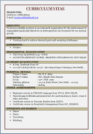 resume blog co  resume sample  cma fresherpicture presentation of beautiful cv