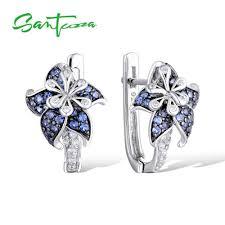 <b>SANTUZZA Silver Earrings For</b> Women Pure 925 Sterling Silver ...