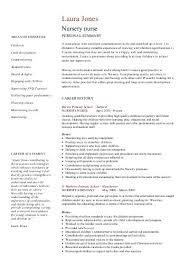 Resume Examples For Nurses  sample resumes nurses   template  new     nursery template cv uk nurse