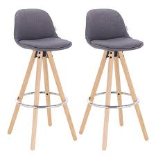 2 pcs Barstools Dark Grey Breakfast Kitchen Counter <b>Bar Chairs</b> ...