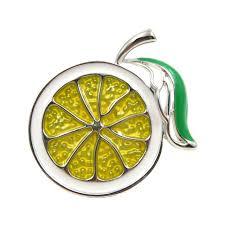 <b>CINDY XIANG 2 Colors</b> Choose Enamel Lemon Brooch Unisex ...