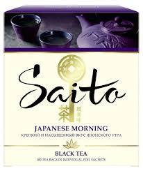 <b>Чай черный Saito Japanese</b> Morning, в сашетах, 100шт - купить ...