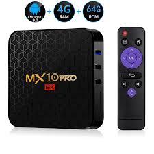 Android 9.0 TV Box MX10 PRO 4GB RAM 64GB Wifi Allwinner <b>H6</b> ...