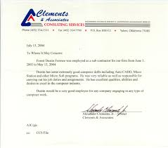 forest foresee letter of reccommendation