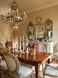 French Dining Room Table Echoing The Verdure Just Beyond The Windows A Green Beaded
