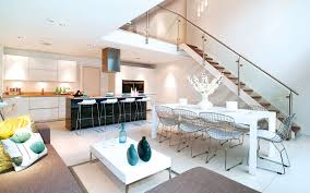 Living Dining Kitchen Room Design Exquisite Residence In London With Double Volume Room By Lli