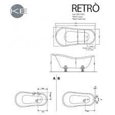 Ванна Kerasan Retro 170x77 ножки бронза - Дом Сантехники