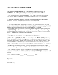 best images of employee non compete agreement template non employee non disclosure agreement