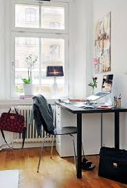 modern desk with file cabinet feat black computer chair also hardwood floor and stylish scandinavian home black desk white home office