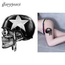 1 Piece Temporary Body Art <b>Waterproof</b> Tattoo Soldier Bone Skull ...