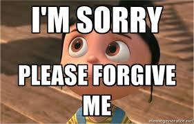 I'm sorry Please forgive me - despicable me sorry | Meme Generator via Relatably.com