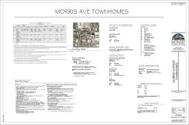 document cover sheet info monsef donogh design groupmorris ave townhomes sheet a000