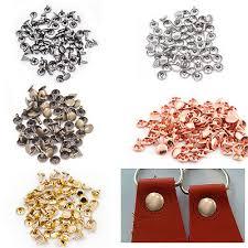 100pcs Two Piece Double Cap Tubular <b>Rivets</b> Leather Craft Cloth ...