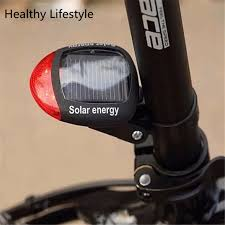3 Mode <b>Solar Power</b> 2 <b>LED</b> Rear Flashing Tail <b>Light</b> Lamp For ...