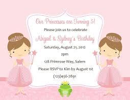 princess birthday party invitations template com first birthday princess invitations