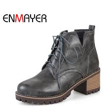 enmayer women ankle boots