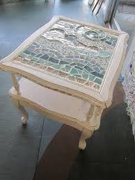 mosaic tile kit broken patio table top