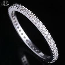 2019 <b>Helon</b> 1.5mm Wide Band <b>Pave Natural Diamonds</b> 0.33ct ...