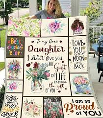 <b>SOFTBATFY</b> To My Daughter Quilt Print All Season Quilt For Bed ...