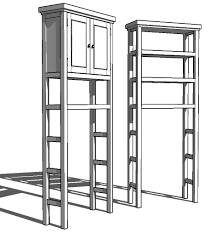 toilet etagere storage