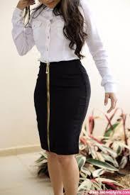 Saia <b>Titanium</b> Zíper in <b>2020</b> | Skirt <b>fashion</b>, <b>Fashion</b>, Casual work ...
