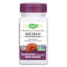 Nature's Way, <b>Reishi Mushroom</b>, <b>376 mg</b>, 100 Vegan Capsules ...
