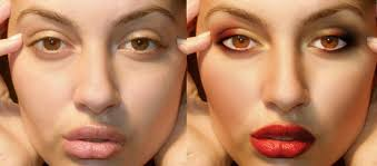 adding a proper make up using photo
