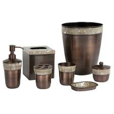 bathroom canisters bath canister sets quick view opal copper  piece bathroom accessory set