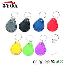 <b>10pcs 13.56MHz IC M1</b> S50 Keyfobs Tags Access Control RFID Key ...