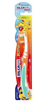 <b>Silca</b> Putzi <b>Зубная щетка</b> мягкая Kids от 3 до 9 лет, цвет в ...