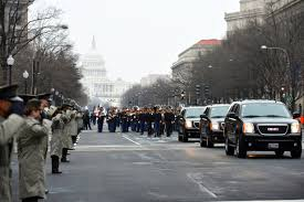 us department of defense photo essay  washington dc jan members of the marine corps street cordon salute as vehicles representing the official party pas along