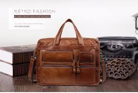 <b>JOYIR Men</b> Briefcases <b>leather</b> Bag Genuine <b>Leather</b> Office Handbag ...
