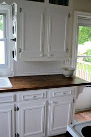 kitchen cabinet door trim: kitchens with stained wooden baseboards we used chair rail and actual bead board for the