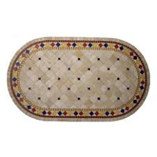 oval dining table art deco: pebbleart inc art deco mosaic stone round oval coffee table quot