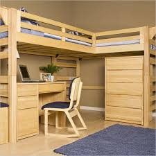 image of loft bunk bed with desk wooden bunk beds desk drawers