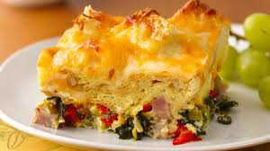 Image result for ham vegetable and cheese strata recipe pic