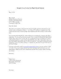 sample high school student cover letter  template sample high school student cover letter