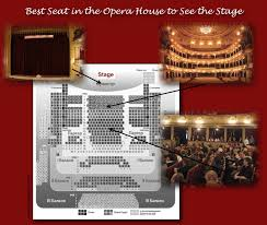 Opera House Seating ChartYou See Everything on Stage   Choosing Seats From the Opera House Seating Map