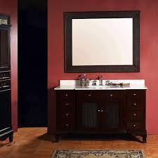 bathroom dark brown oak vanity