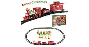 FULiYEAR <b>Christmas Toy Train</b> Set, Battery Powered <b>Train</b> Set ...