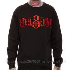 "Свитшот черный мужской <b>Rebel8 Logo</b> Кофта """" В стиле Rebel ..."