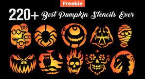 290+ Free Printable <b>Halloween Pumpkin Carving Stencils</b>, <b>Patterns</b> ...